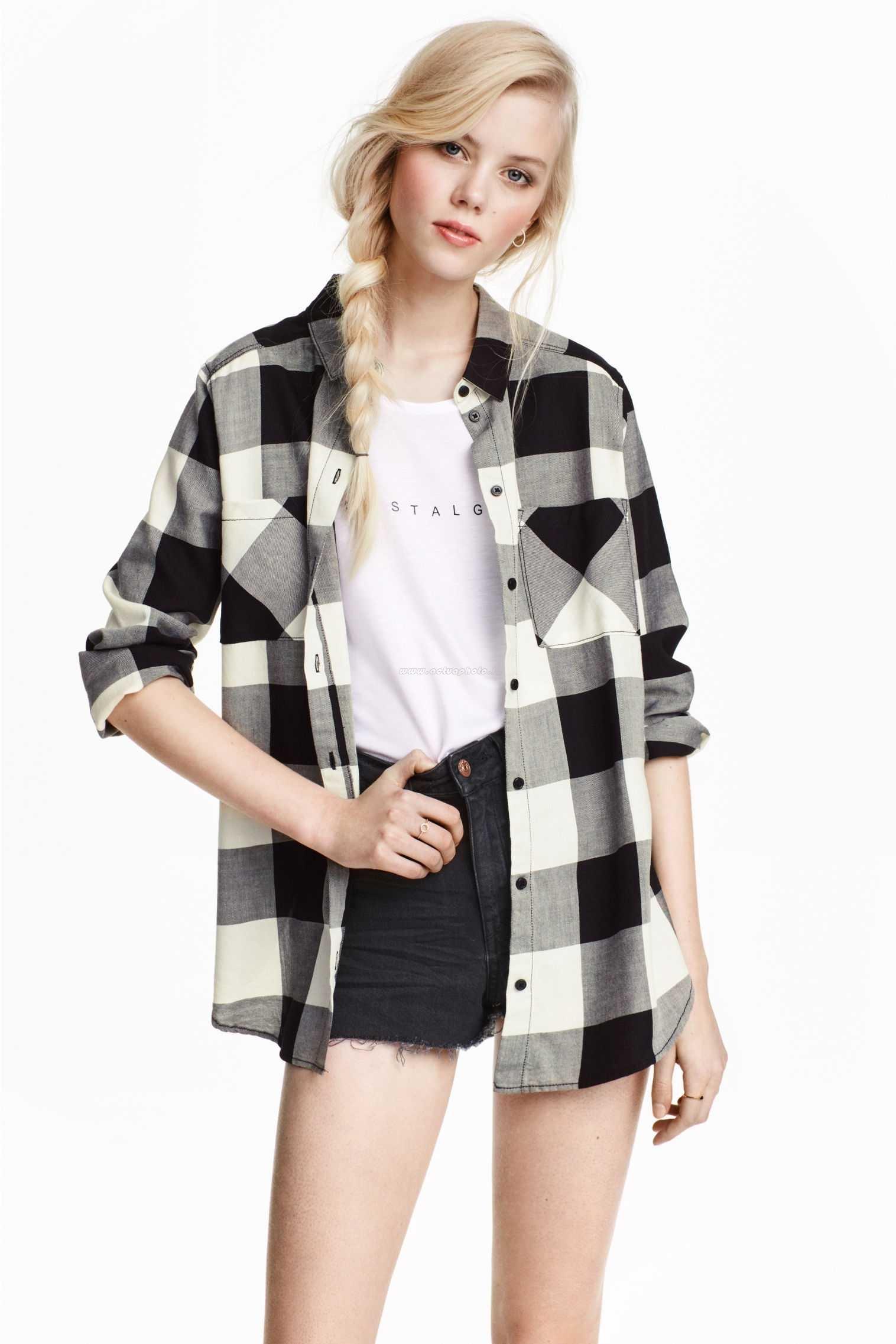 chemise a carreaux femme noir et blanc 9ed9bde05a2d