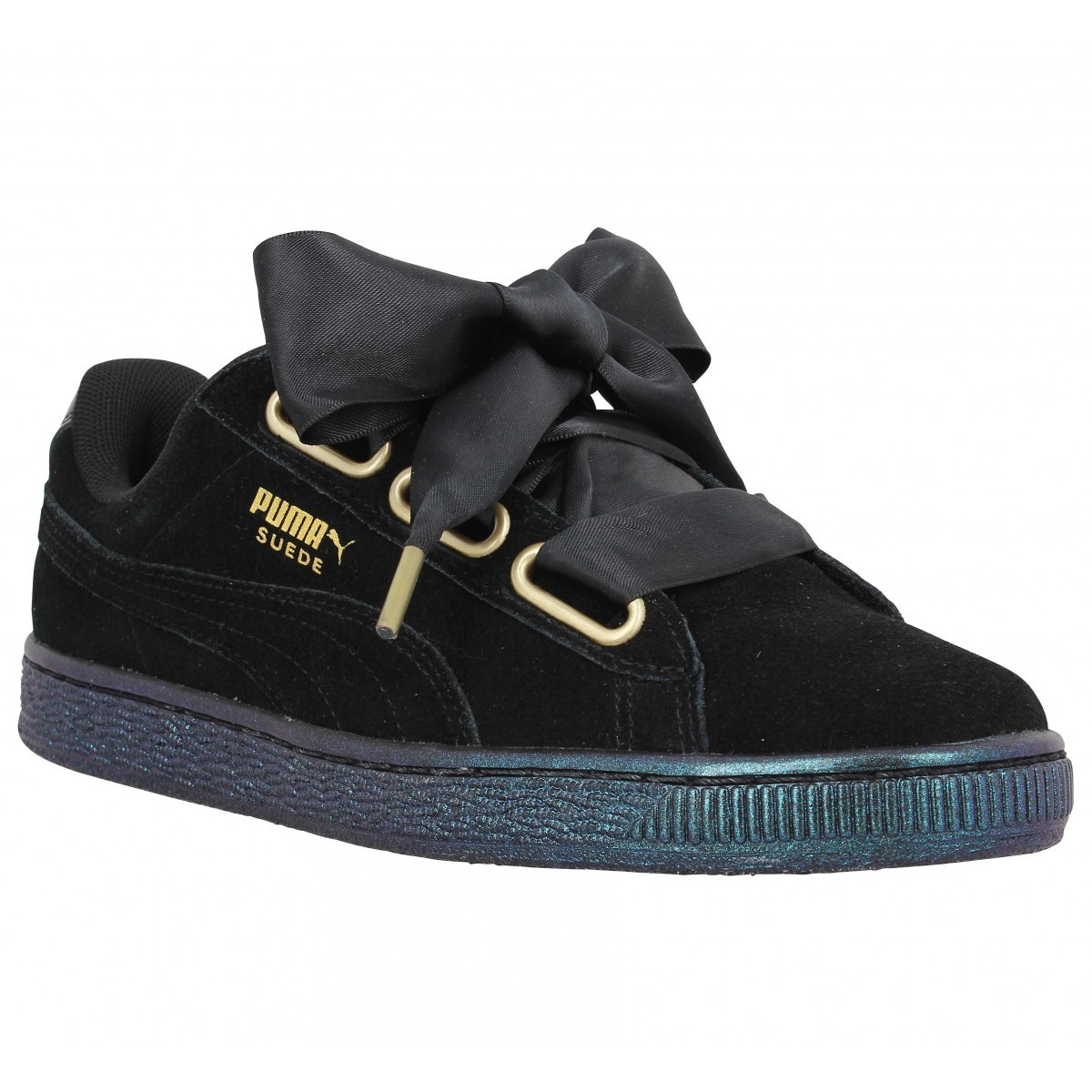 b2aa87b6400 Satin Des Femmes Heart Chaussures Puma Suede puma Abordable Tvqwp4Ax.  Comparer Plateforme ...