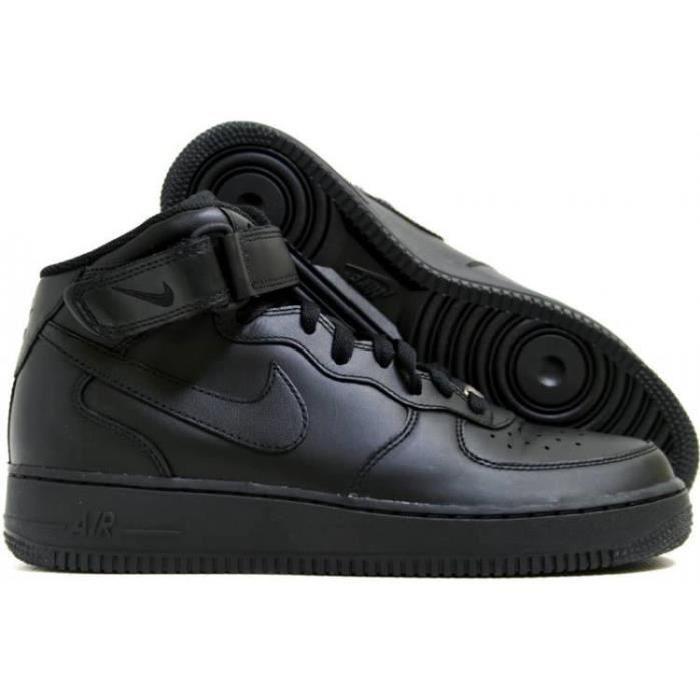 nike air force 1 mid femme Abordable,Nike Air Force 1 Mid Femme Noir Achat    Vente basket Cdiscount en ligne. 7ad7b4436a28