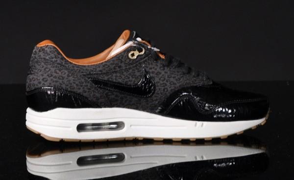 sports shoes 47af1 0b2ab nike air max 1 femme leopard Abordable,Nike Air Max 1 FB Leopard Black  Patent Le Site de la Sneaker en ligne.