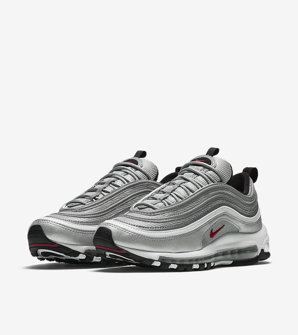 nike air max 97 femme Abordable,Nike Air Max 97 OG « Metallic Argent